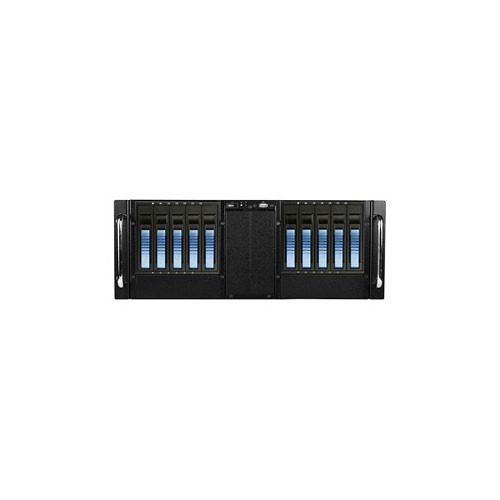 iStarUSA 4U 10-Bay Stylish Storage Server Rackmountable Chassis Kit with Hot-Swap Cage (Blue HDD Handles)
