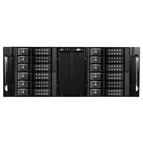 "iStarUSA 4U 10-Bay Stylish Storage Server Trayless Hotswap 12x 3.5"" Rackmountable Chassis Kit (Black HDD Handles)"