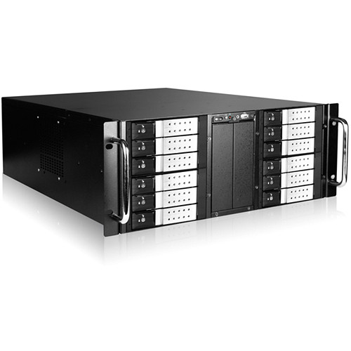 "iStarUSA 4 RU 12-Bay Stylish Storage Server Trayless Hotswap 12 x 3.5"" Rackmountable Chassis Kit (Silver HDD Handles)"