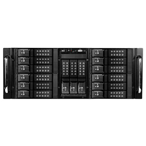 "iStarUSA D410-DE15BK 10-Bay Stylish Storage Server Rackmount & 15 x 3.5"" Trayless Hotswap Chassis Kit (Black HDD Handles)"