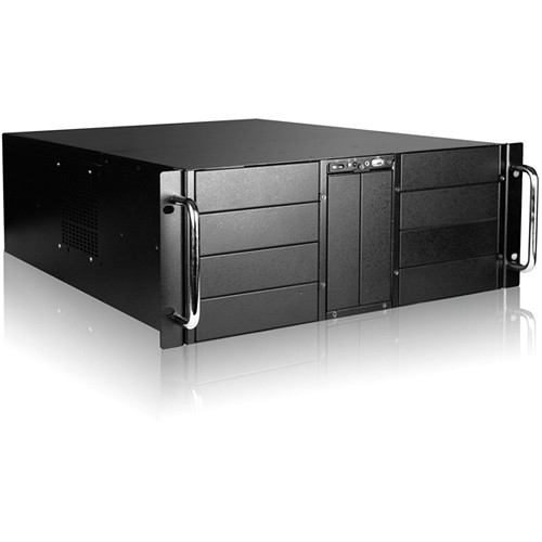 "iStarUSA D410-DE15BL 10-Bay Stylish Storage Server Rackmount & 15 x 3.5"" Trayless Hotswap Chassis Kit (Blue HDD Handles)"
