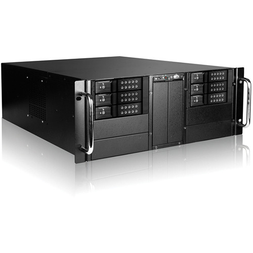 "iStarUSA 4U 10-Bay Stylish Storage Server Trayless Hotswap 6x 3.5"" Rackmountable Chassis Kit (Black HDD Handles)"