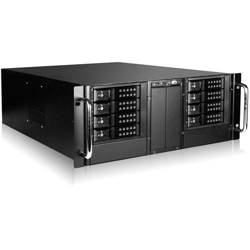"iStarUSA D410-DE8BK 4U 10-Bay Stylish Storage Server Rackmount 8x3.5"" Trayless Hotswap Chassis Kit (Black Bezel)"