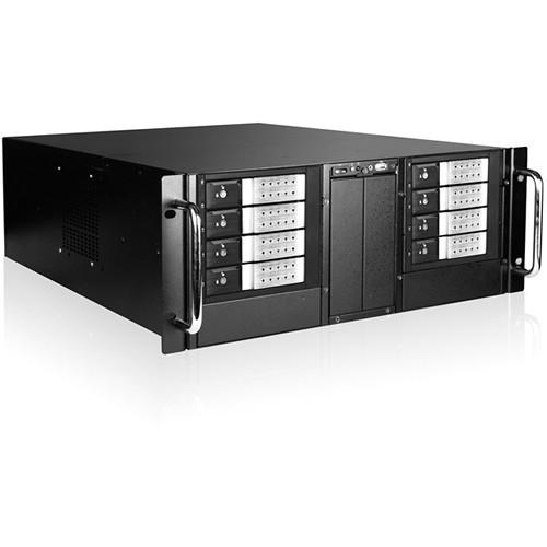 "iStarUSA D410-DE8SL 4U 10-Bay Stylish Storage Server Rackmount 8x3.5"" Trayless Hotswap Chassis Kit (Silver Bezel)"
