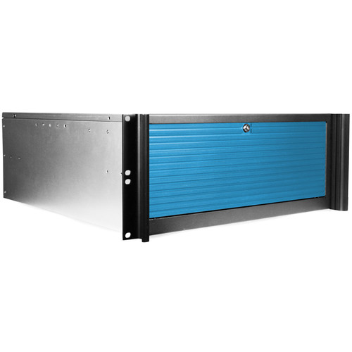 iStarUSA D416-B5BL-BL 5-Bay Compact Rackmount Hotswap Chassis (Blue)