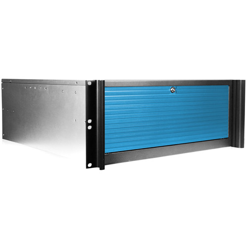 iStarUSA D416-B6BL-BL 4U 6-Bay Compact Rackmount Chassis (Blue)