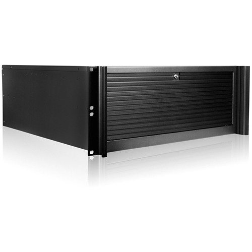 iStarUSA D-416 4 RU Compact Stylish Rackmount Chassis with BPN-DE340SS SAS/SATA Trayless Hot-Swap Cage (Black Bezel)
