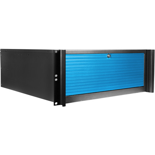 iStarUSA D416-DE4BL-BL 4-Bay Compact Rackmount Trayless Hotswap Chassis (Blue)
