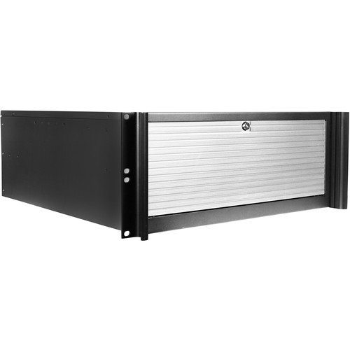 "iStarUSA Compact Stylish Trayless Rackmount Chassis for Four 3.5"" Hotswap Drives (4RU, Silver)"