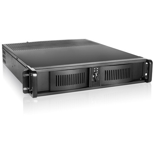 iStarUSA D-200 2 RU Compact Stylish Rackmount Chassis with Riser Card & 350W Power Supply