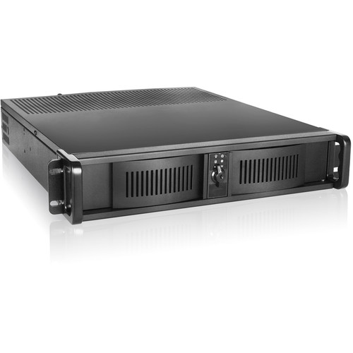 iStarUSA D-200 2 RU Compact Stylish Rackmount Chassis with 750W Redundant Power Supply