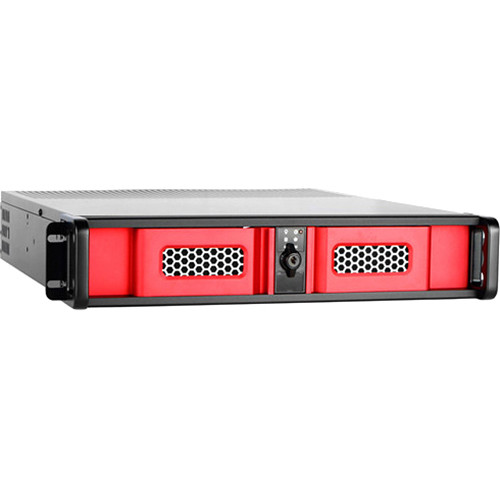 iStarUSA D Storm D-200SE 2U Compact Stylish Rackmount Chassis (Red)
