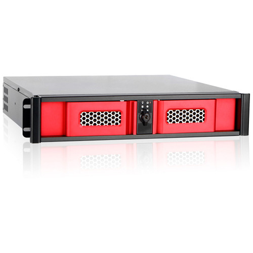 iStarUSA D-200SSE 2U Compact Stylish Rackmount Chassis (Red)