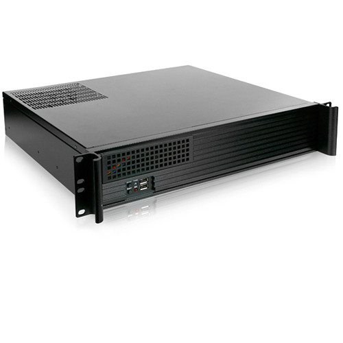 iStarUSA 2 RU Compact Rackmount microATX Chassis with 700W Power Supply