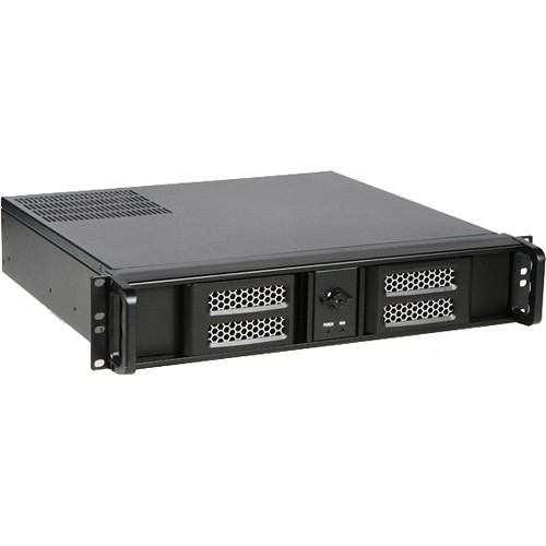 iStarUSA D-213ASE-MATX 2 RU Compact Aluminum microATX Rackmount Chassis with 700W Power Supply