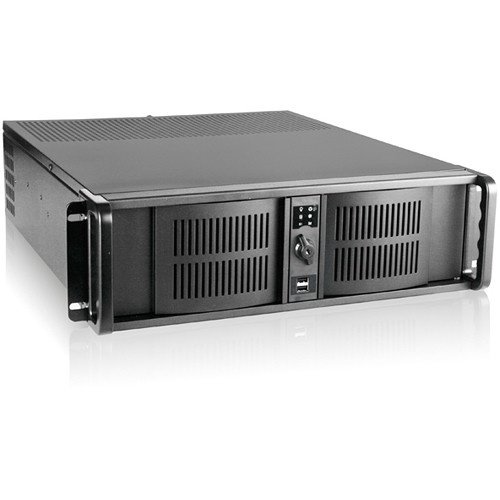 iStarUSA D-300 2 RU Compact Stylish Rackmount Chassis with IS-2U35PD8 350W Power Supply