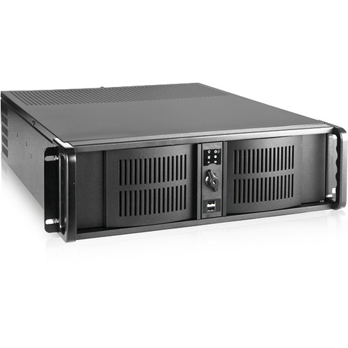 "iStarUSA 3 RU Compact Stylish Rackmount Chassis with 7"" Touch Screen LCD (Black Bezel)"