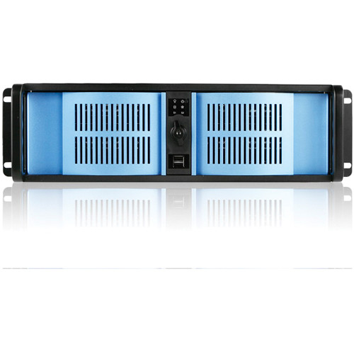 iStarUSA D-300-BLUE 3U Compact Stylish Rackmount Chassis (Blue Bezel)