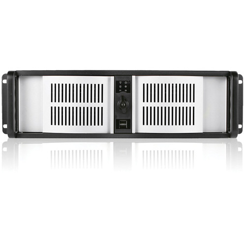 iStarUSA D Storm Series D-300-SILVER 3U Compact Stylish Rackmountable Chassis (Black)