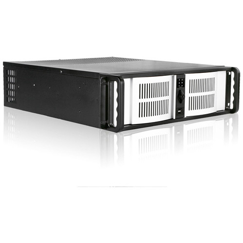 "iStarUSA 3 RU Compact Stylish Rackmount Chassis with 7"" Touch Screen LCD (Silver Bezel)"