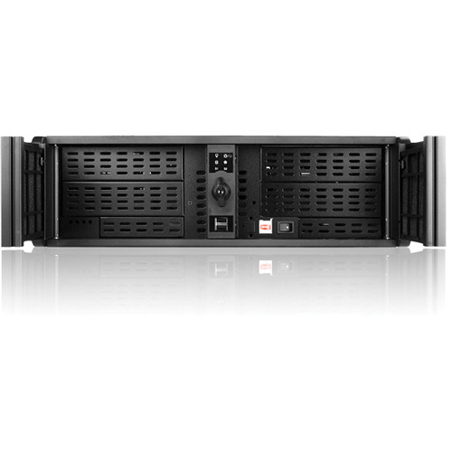 iStarUSA D-300L 3U High Performance Rackmount Chassis (Black Bezel)