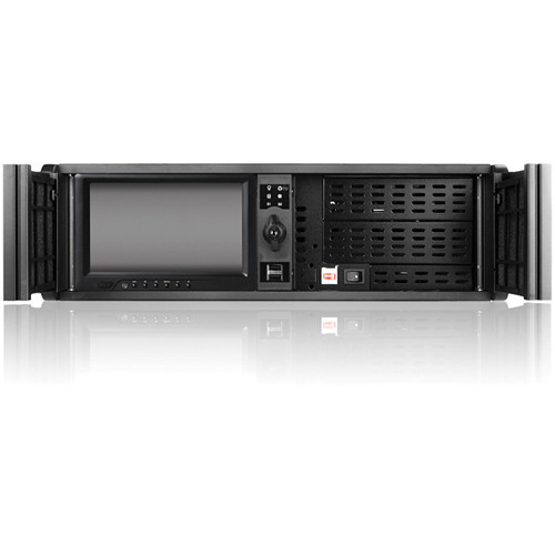 "iStarUSA D Storm Series 3U High Performance Rackmountable Chassis with 7"" Touch Screen LCD (Black Bezel)"