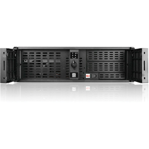 iStarUSA D-300L-PFS 3U High Performance Rackmount Chassis Front-Mounted ATX Power Supply (Black)