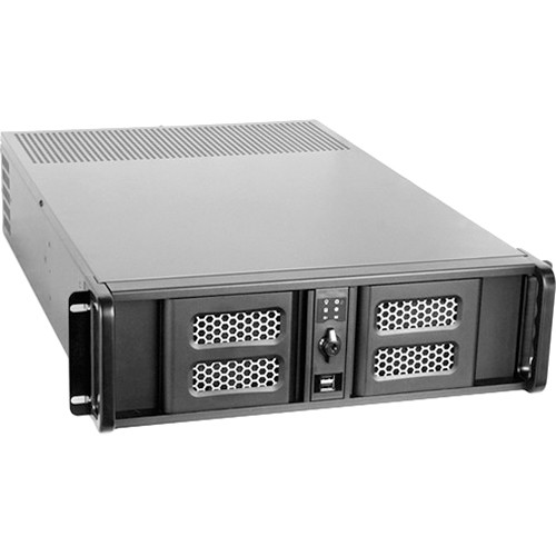 iStarUSA D Storm Series D-300LSE 3U High Performance Rackmountable Chassis (Black / Black)