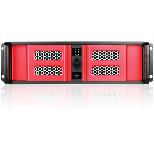 iStarUSA D Storm Series D-300LSE 3U High Performance Rackmountable Chassis (Red / Black)