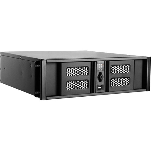 iStarUSA D Storm Series D-300SASE 3U Compact Stylish Aluminum Rackmountable Chassis (Black Bezel)