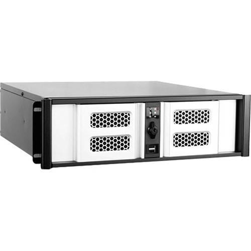 iStarUSA D Storm Series D-300SASE 3U Compact Stylish Aluminum Rackmountable Chassis (Silver Bezel)