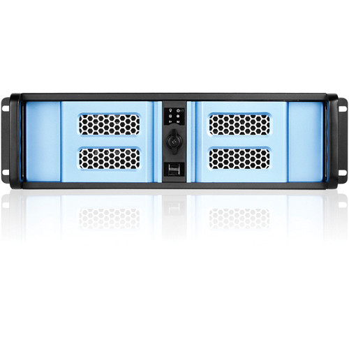 iStarUSA D Storm Series D-300SE 3U Compact Stylish Rackmountable Chassis (Blue Bezel)