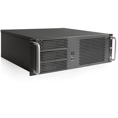 iStarUSA D Storm Series D-314-MATX 3U Compact Rackmountable Chassis for ATX PS2 Power Supply (Black)