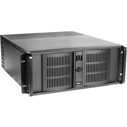 iStarUSA D-400 4 RU Compact Stylish Rackmount Chassis with 500W Redundant Power Supply