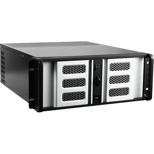 iStarUSA D Storm Series D-400-6SE 4U Compact Stylish Rackmountable Chassis (Silver Bezel)