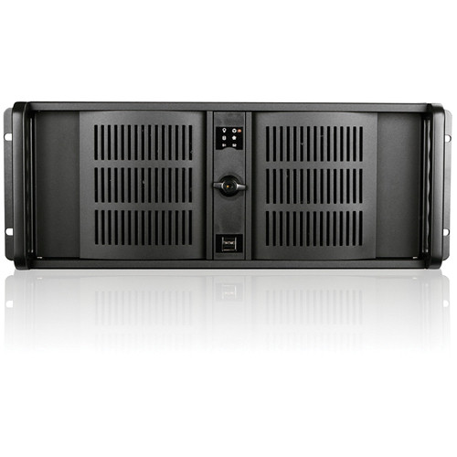 iStarUSA D Storm Series D-400-7 4U Compact Stylish Rackmountable Chassis with Standard Door (Black)