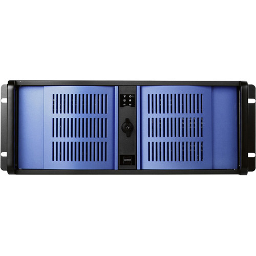 iStarUSA D Storm Series 4U Compact Stylish Rackmountable Chassis (Blue Bezel)
