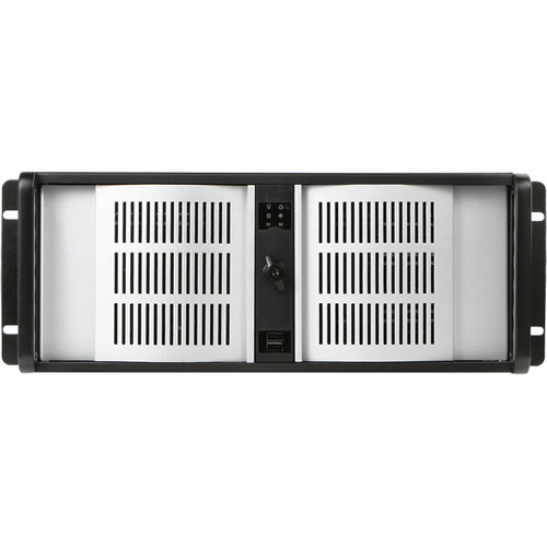 iStarUSA D Storm Series 4U Compact Stylish Rackmountable Chassis (Silver Bezel)