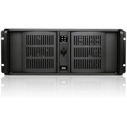 "iStarUSA D Storm Series D-400S3-2535M2SA 4U Ultra Compact Rackmountable Chassis with 2 x 2.5"" Trayless Drive Bays (Black)"
