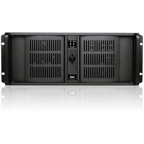iStarUSA D-400S3 4U Ultra-Compact Rackmount Chassis (Black Bezel)