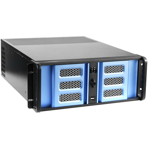 iStarUSA D-400SE 4 RU Compact Stylish Rackmount Chassis with 500W Redundant Power Supply