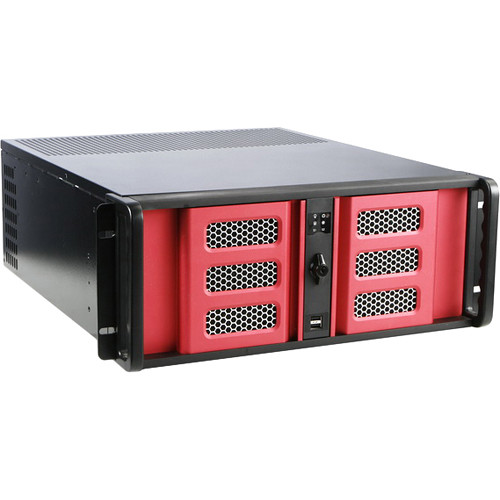 iStarUSA D-400SE 4U Compact Rackmount Chassis (Red Bezel)