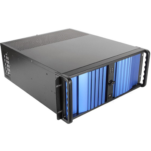 iStarUSA D-400SEA 4 RU Compact Stylish Rackmount Chassis with 500W Redundant Power Supply