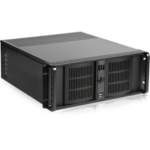 iStarUSA D-406-50R8PD2D Storm Compact Rackmount Chassis with 500W Redundant Power Supply (4 RU)