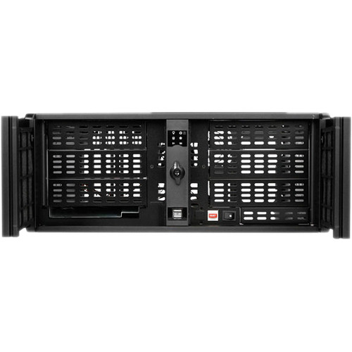 iStarUSA D-406-SD 4U Compact Stylish Rackmountable Chassis (Black)