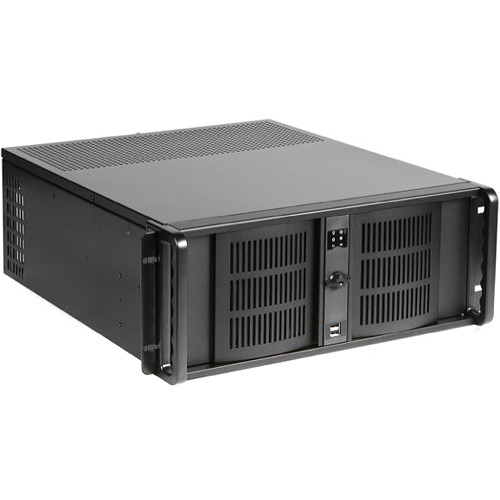 iStarUSA D-406SE 4 RU Compact Stylish Rackmount Chassis with 500W Redundant Power Supply