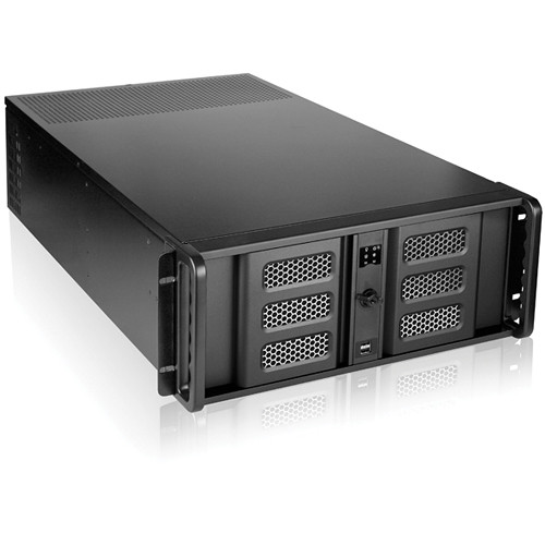 "iStarUSA D-407LSE-BK-TS859 4-Bay 4U Rackmount Chassis with 8"" Touch Screen LCD"