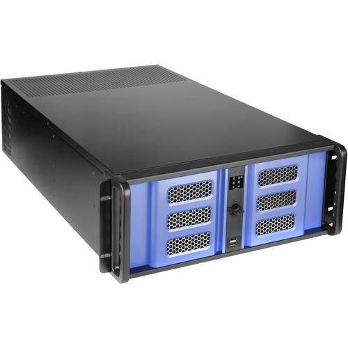 """iStarUSA D-407LSE-BL-TS859 4-Bay 4U Rackmount Chassis with 8"""" Touch Screen LCD"""