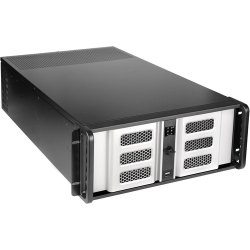 """iStarUSA D-407LSE-SL-TS859 4-Bay 4U Rackmount Chassis with 8"""" Touch Screen LCD"""