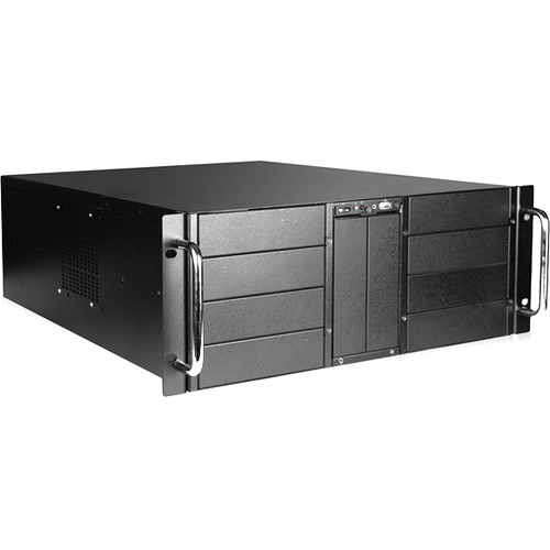 iStarUSA D-410 4 RU 10-Bay Stylish Storage Server Rackmount Chassis with 500W Redundant Power Supply
